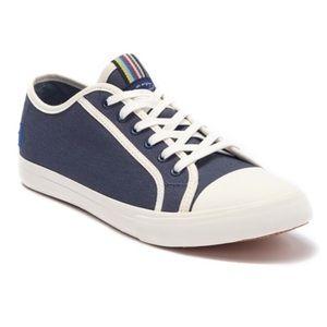 NEW ORIGINAL PENGUIN Navy Canvas Sneaker